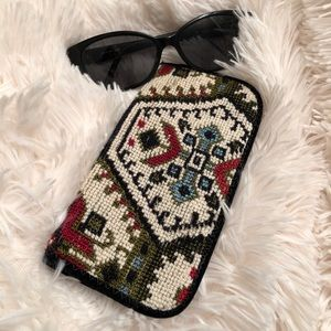 ⭐️Vintage 60s Needlepoint Tapestry Glasses Case